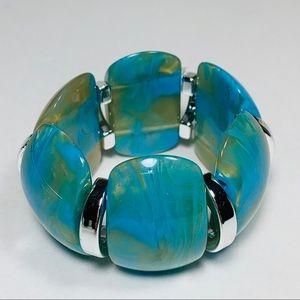 Acrylic Marble Statement Bracelet